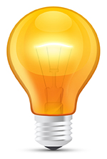 light bulb note