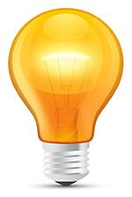 light bulb note