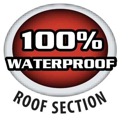 100 waterproof logo
